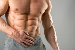 Homme avec du grand ABS photos stock