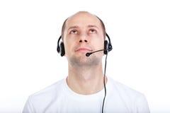 Homme avec l'écouteur Photos libres de droits