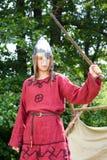 Homme avec l'épée Images stock