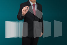 Homme avec l'affichage numérique Image libre de droits
