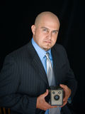 Homme avec l'appareil-photo Photo libre de droits