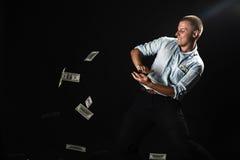 Homme avec l'argent photo libre de droits