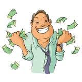 Homme avec l'argent Photos stock