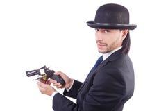 Homme avec l'arme à feu Photographie stock libre de droits
