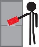 Homme avec l'enveloppe rouge Photo libre de droits