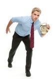 Homme avec l'horloge Image stock