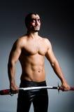Homme avec l'épée Photographie stock libre de droits
