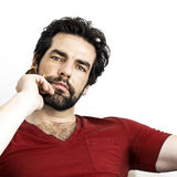 Homme avec la barbe Image stock