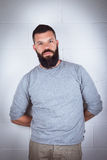 Homme avec la barbe Photos stock