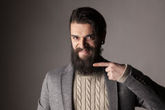 Homme avec la barbe photo stock