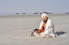 Homme avec la barbe noire dans le Bengale-Occidental Images libres de droits