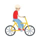 Homme avec la bicyclette Illustration Stock
