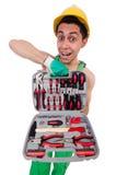 Homme avec la boîte à outils d'isolement Photo libre de droits