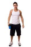 Homme avec la bouteille d'eau Photographie stock