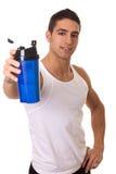 Homme avec la bouteille d'eau Images libres de droits