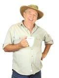 Homme avec la cuvette de café Image libre de droits