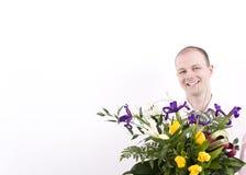 Homme avec la fleur photos libres de droits