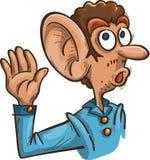 Homme avec la grande oreille Photo libre de droits