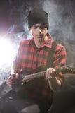 Homme avec la guitare Image libre de droits