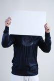 Homme avec la plaquette Image stock