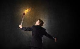 Homme avec la torche Photos libres de droits