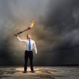 Homme avec la torche Photo libre de droits