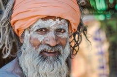 Homme avec la vue profonde dans le Bengale-Occidental Photo libre de droits