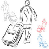 Homme avec le bagage Images stock