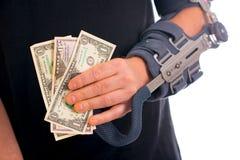 Homme avec le bras cassé Images libres de droits
