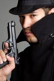 Homme avec le canon Photographie stock libre de droits