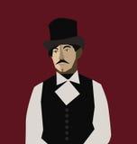 Homme avec le chapeau Photos libres de droits