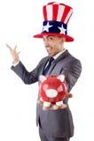 Homme avec le chapeau américain Images libres de droits