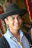 Homme avec le chapeau de cowboy Photo libre de droits