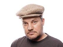 Homme avec le chapeau de tweed photographie stock