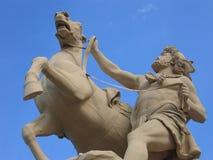 Homme avec le cheval Images stock