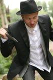 Homme avec le couteau image libre de droits