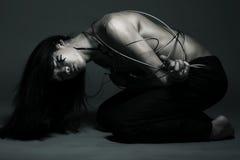 Homme avec le fil d'acier Image libre de droits
