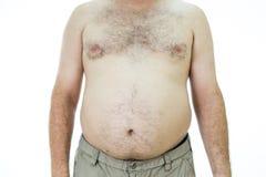 Homme avec le gros estomac Image libre de droits