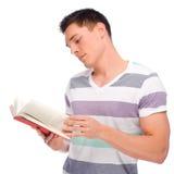 Homme avec le livre photo stock