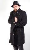 Homme avec le manteau élégant images stock