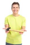 Homme avec le marteau Photographie stock libre de droits