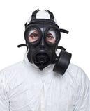 Homme avec le masque de gaz Photos stock