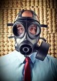 Homme avec le masque de gaz Photographie stock libre de droits