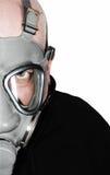 Homme avec le masque de gaz Images libres de droits
