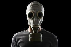 Homme avec le masque de gaz Photo libre de droits