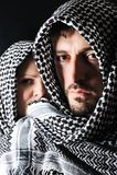 Homme avec le Palestinien arabe Photographie stock libre de droits