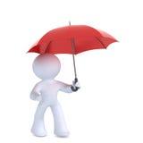 Homme avec le parapluie Photo stock