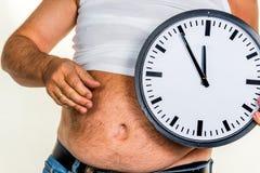 Homme avec le poids excessif Image stock