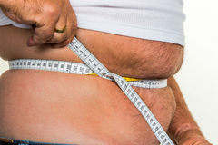Homme avec le poids excessif Photographie stock