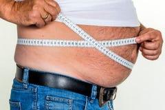 Homme avec le poids excessif Image libre de droits